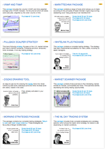 The NanoTrader trading store contains many trading strategies and tools. Some are free.