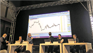 The NanoTrader platform used by traders during the live trading event on the World of Trading fair.